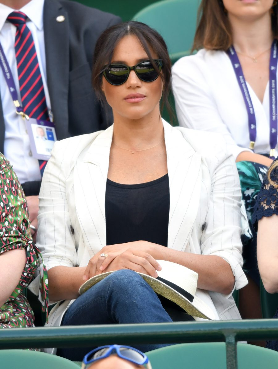 Meghan Markle is getting called out for having staff ban fans from taking her photo at Wimbledon, and really?