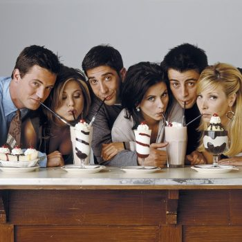 Pottery Barn released a <em>Friends</em> collection, and yes, you can buy THE apothecary table