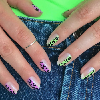 Neon accent nails are the coolest (and most surprisingly wearable) summer nail art trend