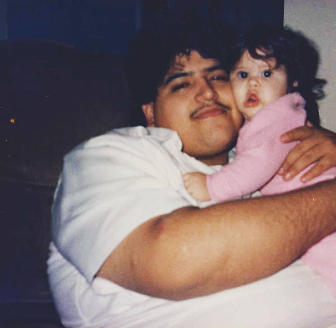 Author and her dad in her childhood