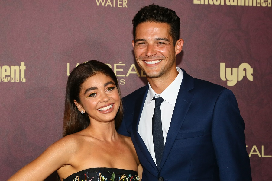 Sarah Hyland and Wells Adams are engaged, and her ring could probably sink ships