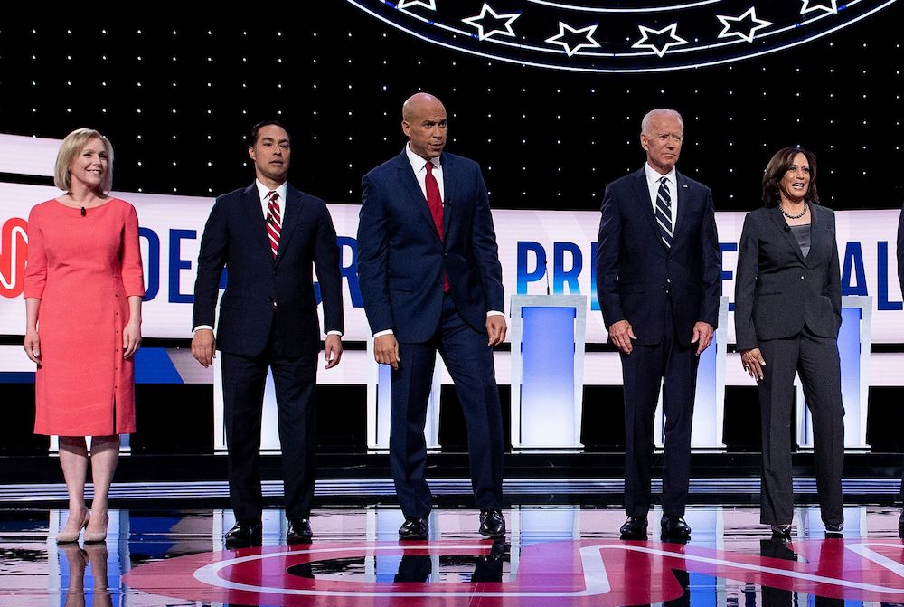 Presidential hopefuls at Democratic debate, including Harris and Gillibrand