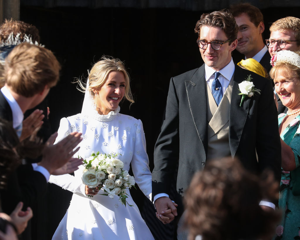 Newlyweds Ellie Goulding and Caspar Jopling leave York Minster