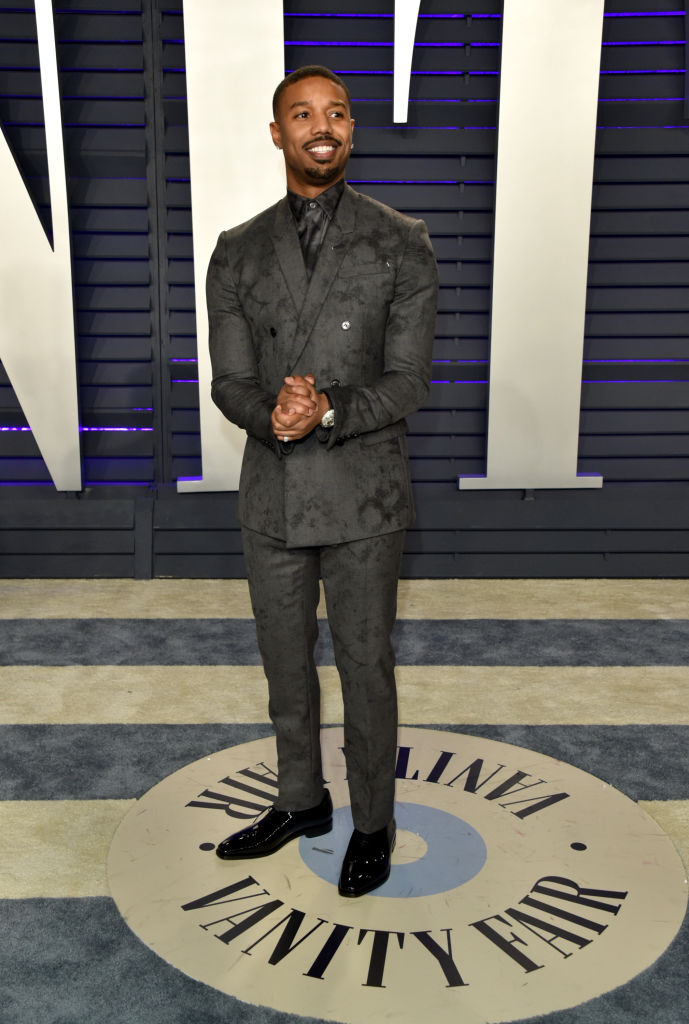 Michael B. Jordan had the best reaction to he and Zendaya wearing the same gorgeous suit