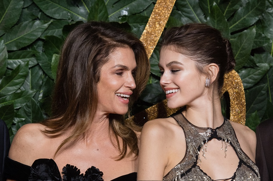 Kaia Gerber twinned with mom Cindy Crawford's throwback look, and we love these two