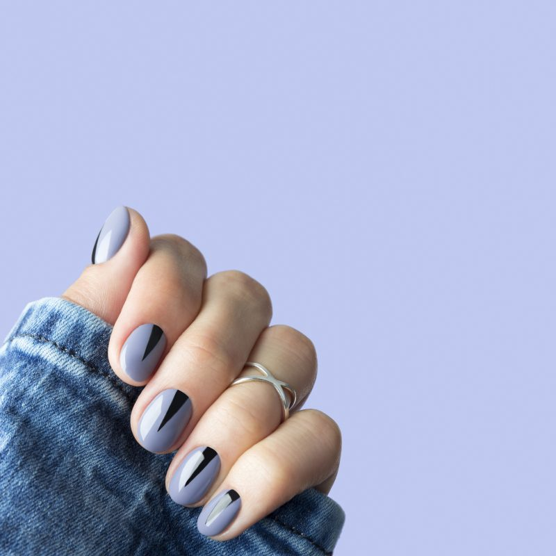 Geometric nails are the chic, ultra-precise manicure trend you need to try for fall