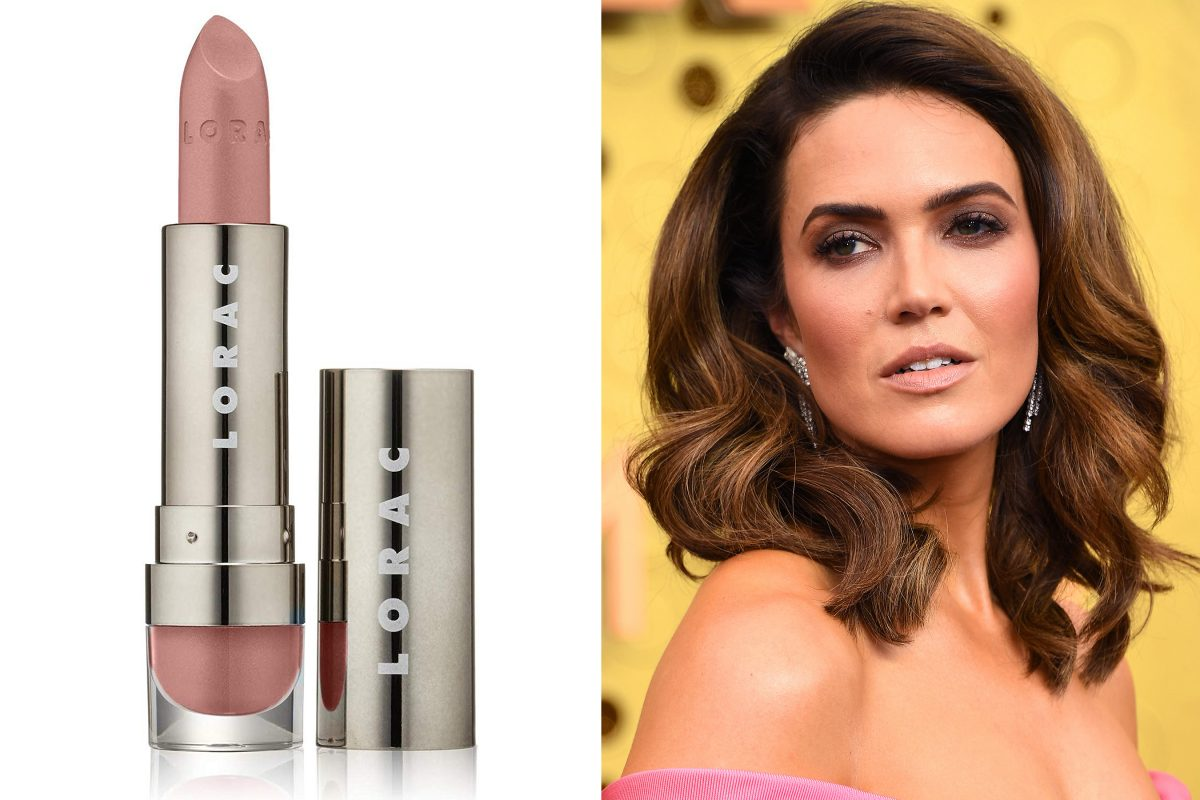 Mandy Moore's rosy nude lipstick from the Emmys is only $18 on Amazon, so run, don't walk