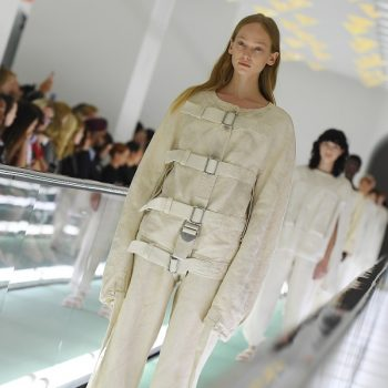 """A model protested Gucci's straitjacket """"fashion"""" while still on the runway"""
