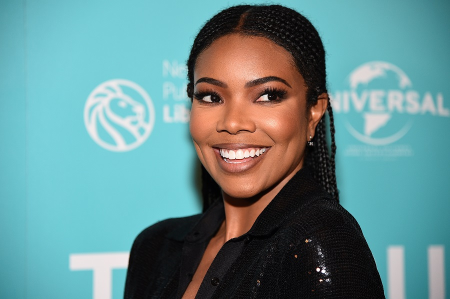 Gabrielle Union showed off her natural curls in a tapered pixie cut