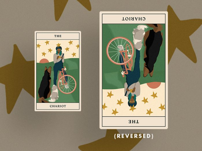 tarotscopes The Chariot tarot card reversed for HelloGiggles tarot reading