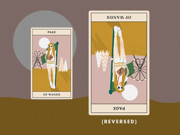tarotscopes page of wands tarot card for HelloGiggles reading