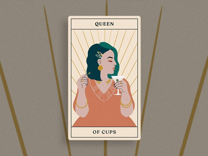 tarotscopes queen of cups tarot card for HelloGiggles reading