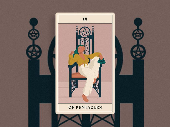 tarotscopes nine of pentacles tarot card HelloGiggles reading
