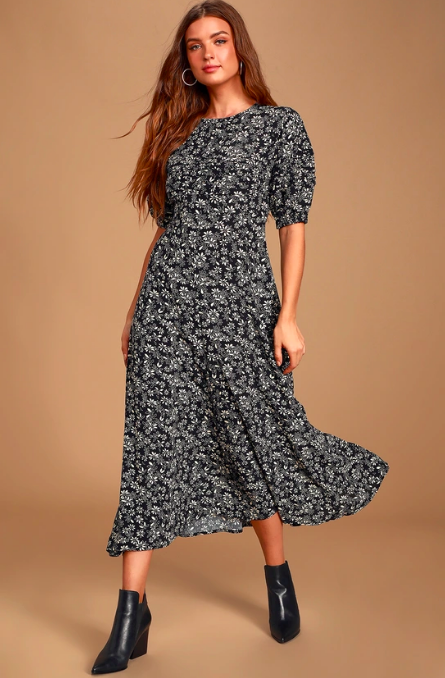 Free People puff-sleeved dress