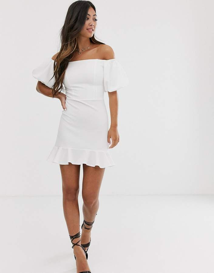 Asos puff-sleeved dress