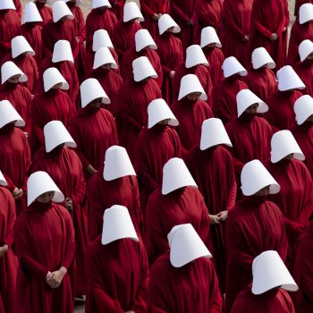 The internet is (reasonably) mad at this couple's <em>Handmaid's Tale</em>-themed wedding photos