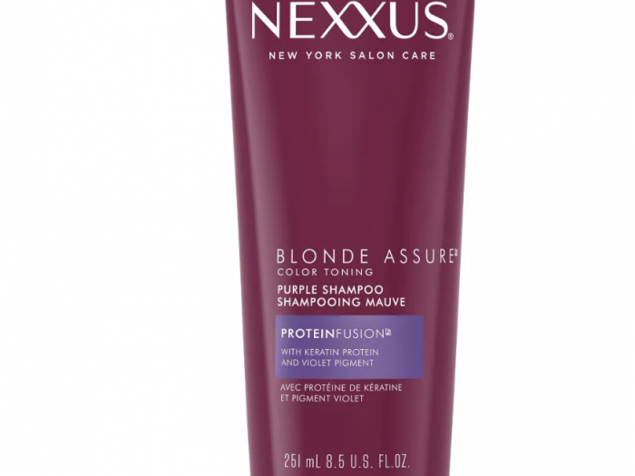 nexxus assure purple shampool best drugstore shampoo for blonde hair