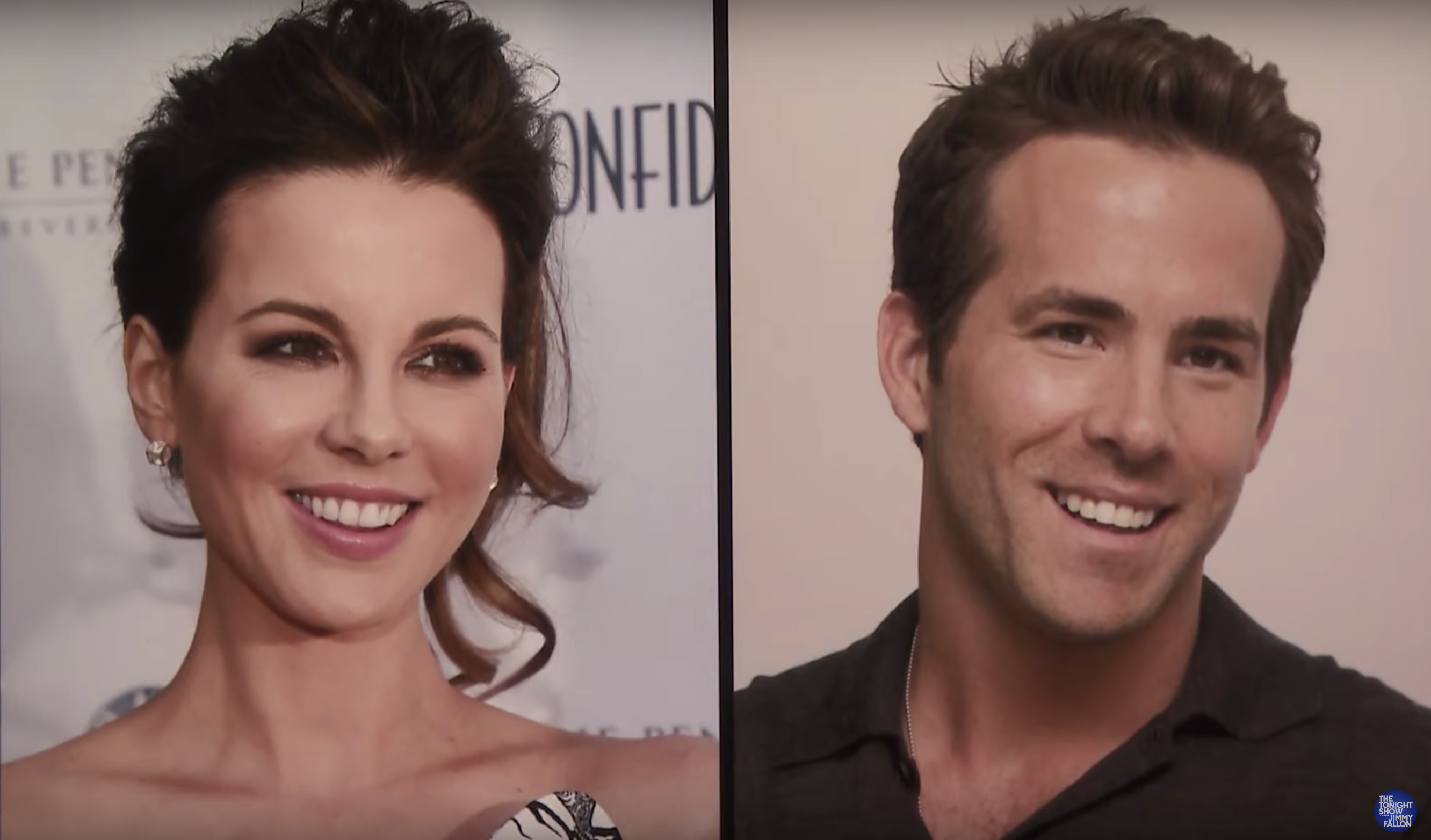 Kate Beckinsale is convinced Ryan Reynolds is her doppelgänger, and we can't un-see it