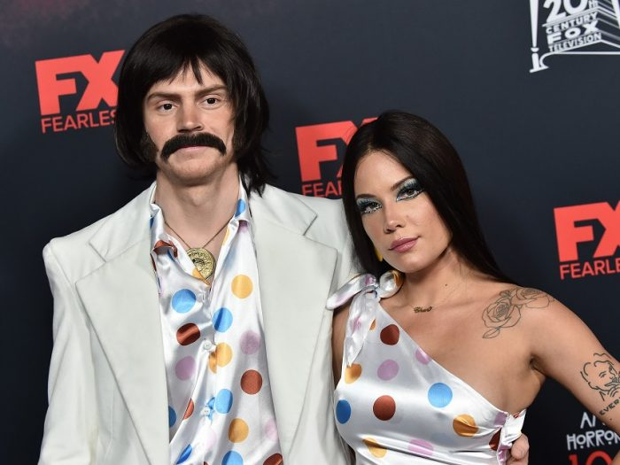 celebrity couples halloween costumes - halsey and evan peters as sonny and cher