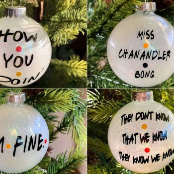 An Etsy shop made Christmas ornaments with iconic <em>Friends</em> quotes on them, and we want every single one