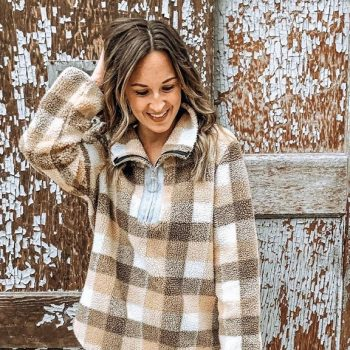 This plaid sherpa is practically made for snuggle season, and it's only $33 on Amazon