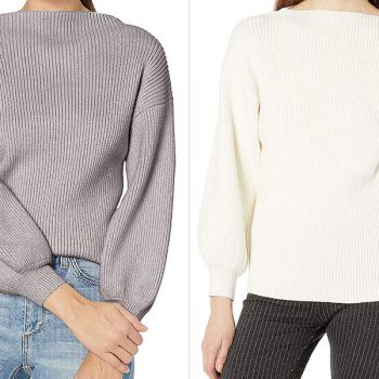 Amazon launched a secret sale on this ribbed statement sweater—here's how to get the deal