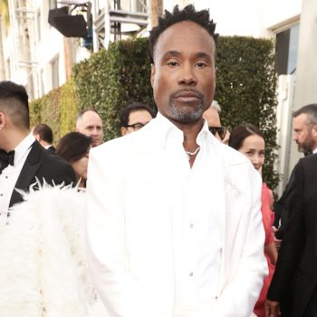 Billy Porter arrived in an extravagant feather train at the 2020 Golden Globes—and we're literally dying