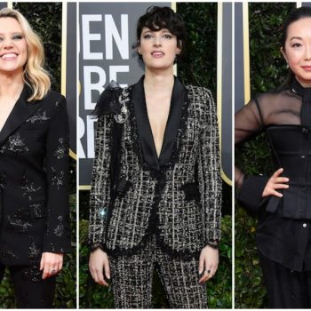 Kate McKinnon, Phoebe Waller-Bridge, and more celebs are wearing the hell out of pantsuits at the 2020 Golden Globes