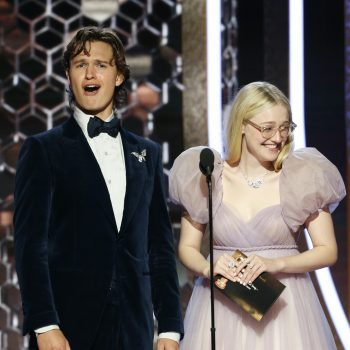 Ansel Elgort sang during his Golden Globes 2020 bit and Twitter can't quite handle it