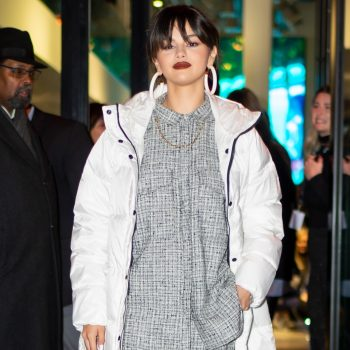 Selena Gomez's white puffer coat is basically a stylish sleeping bag, and we're here for it
