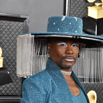 Billy Porter's blue eyeshadow at the 2020 Grammys is our makeup goals