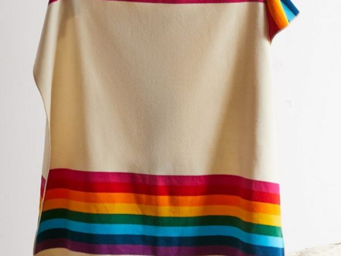 wool anniversary gifts, urban outfitters wool throw rainbow