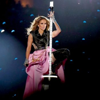 Jennifer Lopez revealed a video of the moments just before she was lowered onto the halftime show stage