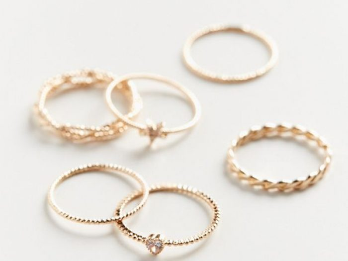 urban outfitters stackable gold rings, petite stakable rings