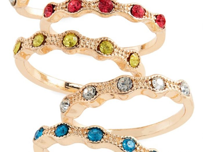 stackable birthstone rings, stackable gemstone rings