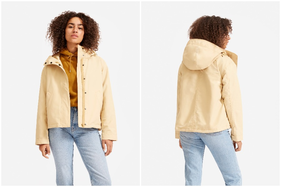 Everlane's new windbreaker is sustainable, packable, and stylish