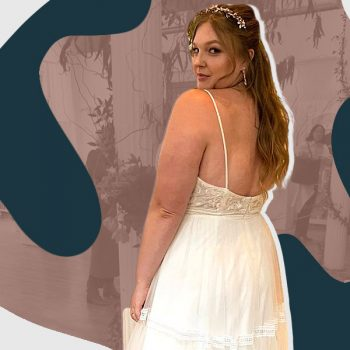 I didn't fit into my wedding gown—and I didn't care