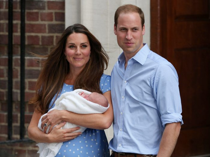 kate middleton prince george birth announcement lindo wing steps