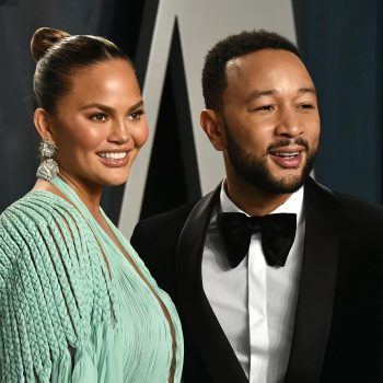 Chrissy Teigen is convinced that this picture of Luna and Miles is actually just her and John Legend