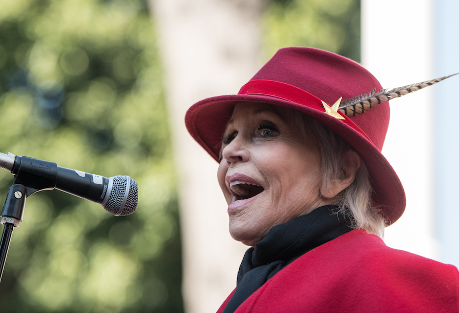 You can now participate in one of Jane Fonda's climate change rallies from home