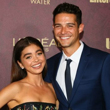 "Sarah Hyland called Wells Adams ""fiancé of the year"" for removing her extensions at home"