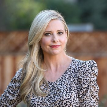 Sarah Michelle Gellar traded in her signature blonde for a new rosé hair color