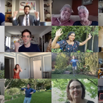 <em>The Office</em> cast recreated their famous wedding scene via Zoom, and it's glorious