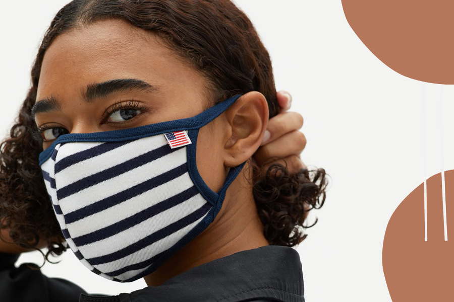 Everlane just launched fabric face masks in cute, colorful sets