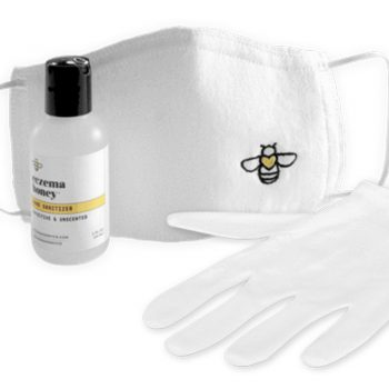 This skincare brand created a kit with hand sanitizer, gloves, and a face mask for $17