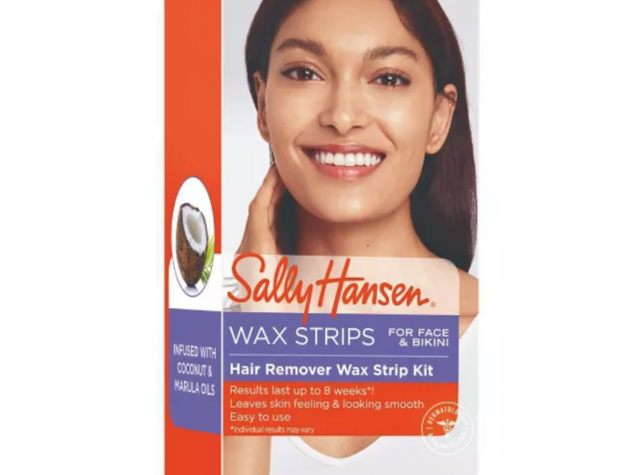 sally hansen hair remover face and bikini wax, best at-home wax strips