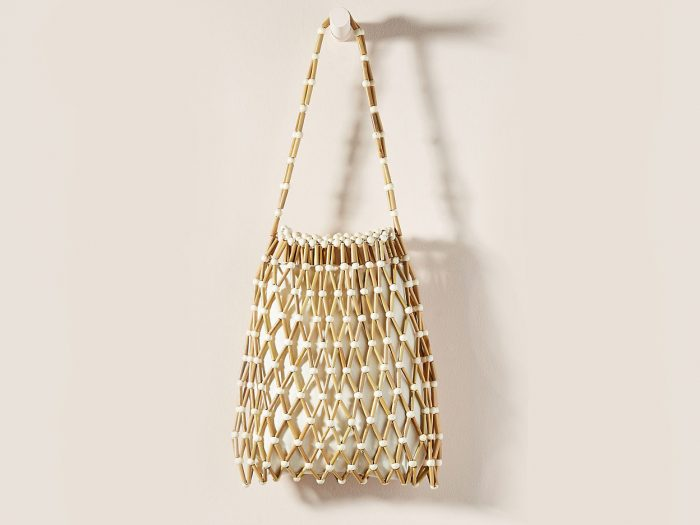Anthropologie bamboo tote