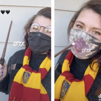 You can buy a Harry Potter face mask that reveals the Marauder's Map as you breathe