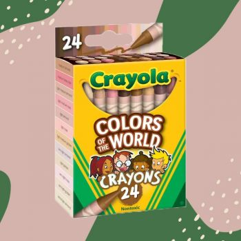 Crayola was inspired by makeup foundation to create crayons in 24 skin tone shades