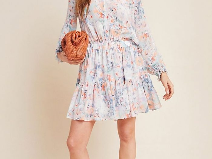 anthropologie memorial day sale, floral dress